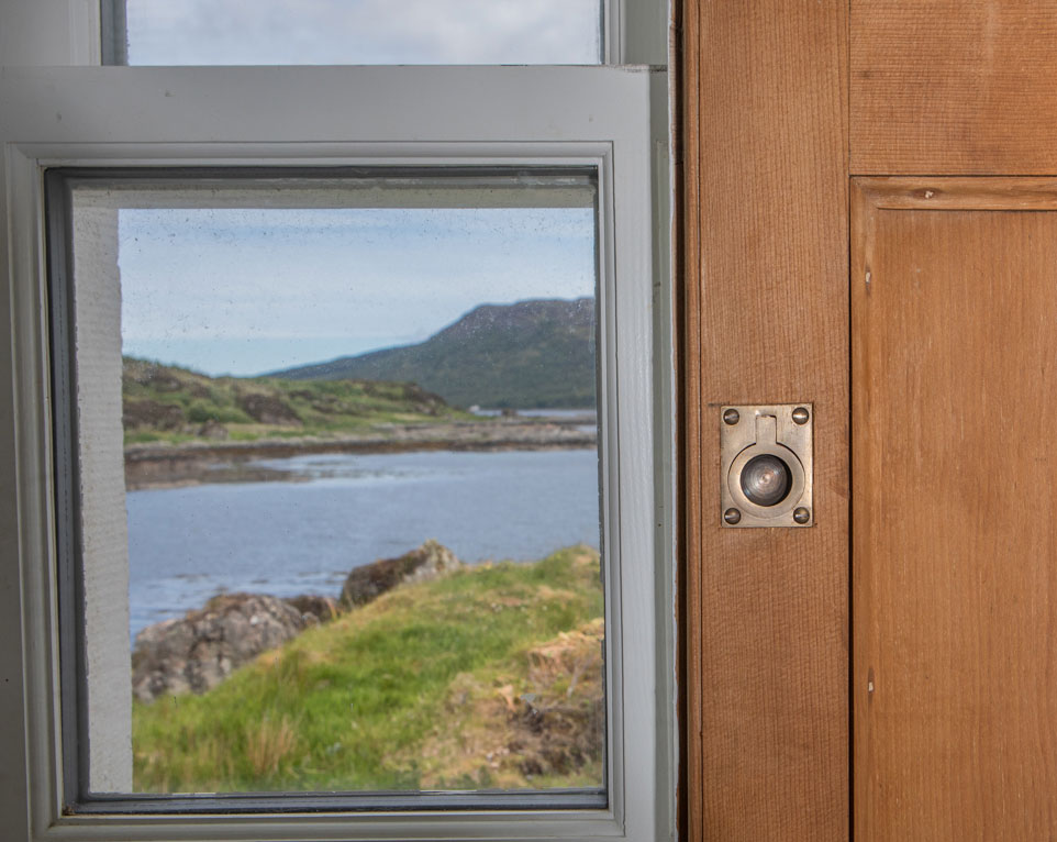 Sea view from Eilean Sionnach Lighthouse Cottage