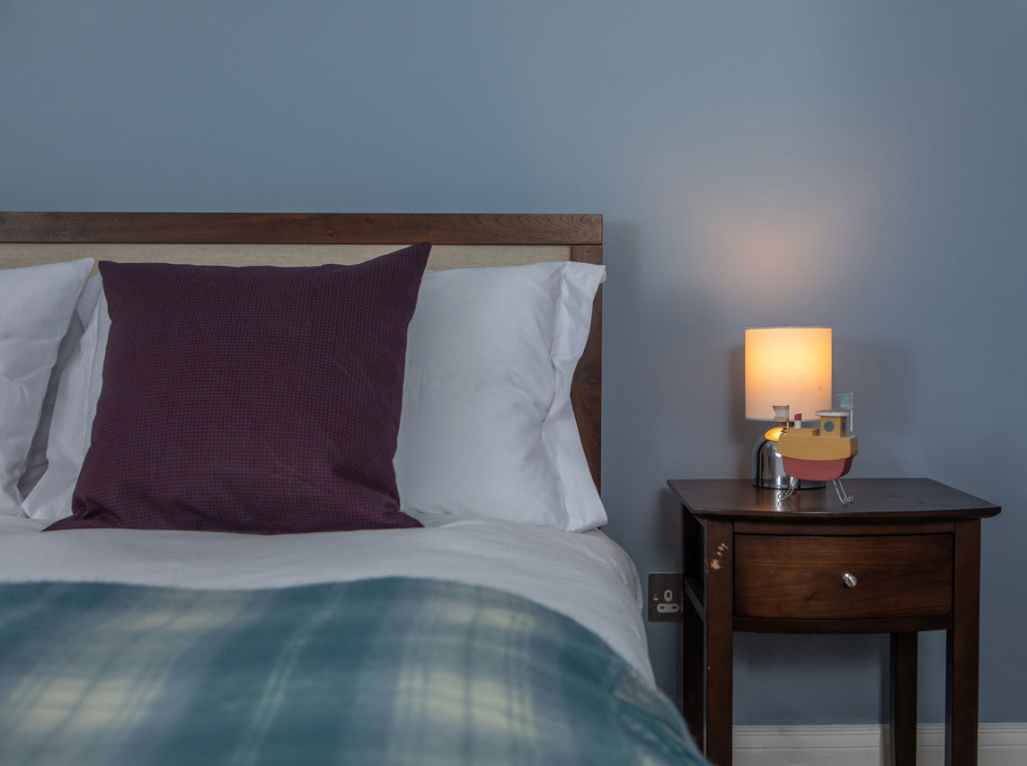 luxury bedrooms at Eilean Sionnach Lighthouse Cottage are ensuite